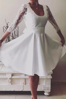Φυσικό Τόξο κούνια Μέχρι το Γόνατο Τονισμένα τόξο Κοκτέιλ φορέματα