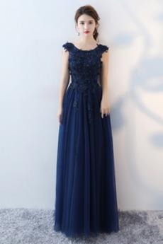 Χάντρες Επίσημη Αμάνικο Δαντέλα εξώπλατο Παράνυμφος φορέματα