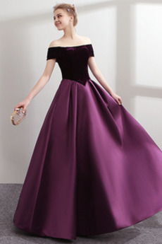 Επίσημη Προσαρμοσμένες μανίκια Βασκική μέση Μπάλα φορέματα