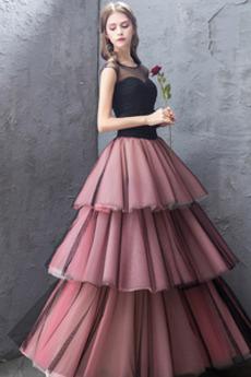 Κόσμημα Ντραπέ Μέχρι τον αστράγαλο Γραμμή Α Μπάλα φορέματα