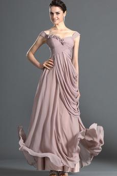 Καλοκαίρι Σιφόν Αυτοκρατορία Φερμουάρ επάνω Βραδινά φορέματα