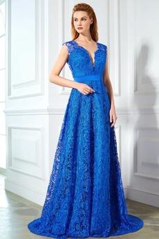 Δαντέλα επικάλυψης Άνοιξη Φυσικό Επίσημη Βραδινά φορέματα