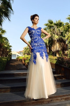 be885ec659cf Φερμουάρ επάνω Γραμμή Α Φυσικό Χάνει Κομψό Βραδινά φορέματα