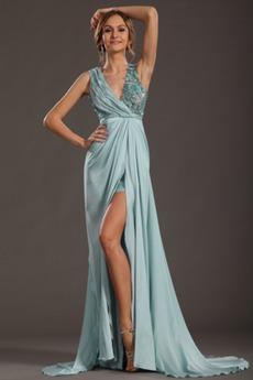 Θήκη Αμάνικο Φερμουάρ επάνω Τονισμένα ροζέτα Μπάλα φορέματα