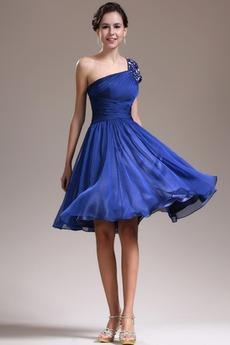 Φυσικό Τα μέσα πλάτη Γραμμή Α απλός Ένας Ώμος Παράνυμφος φορέματα