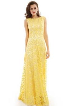 Γραμμή Α Δαντέλα Δαντέλα επικάλυψης Επίσημη Βραδινά φορέματα