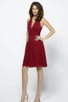 Βαθιά v-λαιμός Μέχρι το Γόνατο Μικρό δραματική Παράνυμφος φορέματα