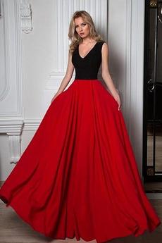Γραμμή Α Έτος 2020 Φερμουάρ επάνω Χάνει Αμάνικο Βραδινά φορέματα
