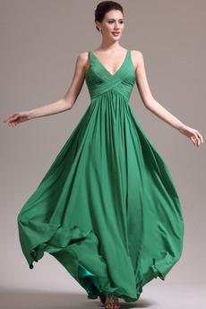 Φθινόπωρο 2014 Μέση αυτοκρατορία Πλισέ Αμάνικο Βραδινά φορέματα
