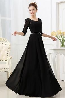 Σέσουλα Σιφόν Μέχρι τον αστράγαλο Γραμμή Α Βραδινά φορέματα