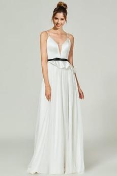 Τονισμένα τόξο Αμάνικο Σέξι Σιφόν Ντραπέ Μπάλα φορέματα