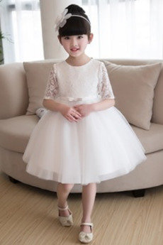 Διακοσμητικά Επιράμματα Μέχρι το Γόνατο Φυσικό Λουλούδι κορίτσι φορέματα
