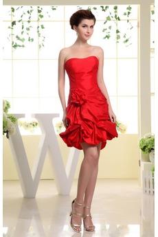 Αμάνικο Ταφτάς Γραμμή Α Φυσικό εξώπλατο Μίνι Κοκτέιλ φορέματα