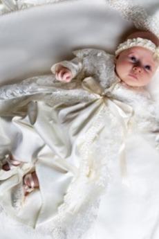 Κόσμημα Μακρύ Μανίκι Μέση αυτοκρατορία Επίσημη Φόρεμα Βάπτισης
