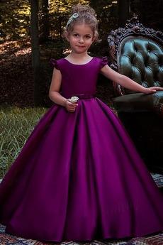 Άνοιξη Φερμουάρ επάνω Κόσμημα Επίσημη Χάνει Λουλούδι κορίτσι φορέματα