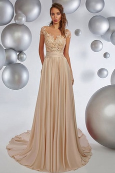 Έτος 2020 Από τον ώμο Σιφόν Φυσικό σύγχρονος Μπάλα φορέματα