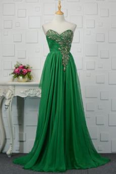 Έτος 2020 Φυσικό Χάντρες Πολυτελές Μακρύ Βραδινά φορέματα