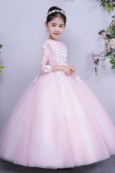 Ψευδαίσθηση Δαντέλα επικάλυψης Κόσμημα Διακοσμητικά Επιράμματα Λουλούδι κορίτσι φορέματα