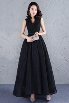 Κομψό Φυσικό Λαιμόκοψη V Δαντέλα Δαντέλα Μπάλα φορέματα