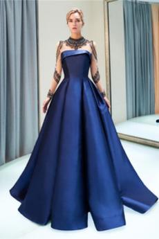 Γραμμή Α Αχλάδι Υψηλός λαιμός Ψευδαίσθηση Μπάλα φορέματα