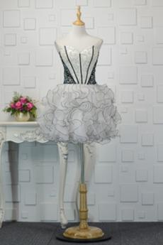 Φυσικό Φθινόπωρο Γραμμή Α Αμάνικο Κόσμημα τονισμένο μπούστο Κοκτέιλ φορέματα