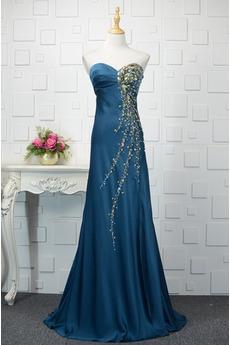 Κρυστάλλινη εξώπλατο αγαπημένος Λάμψη Αμάνικο Βραδινά φορέματα