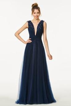 Αμάνικο Λαιμόκοψη V Κομψό Βαθιά v-λαιμός Μπάλα φορέματα