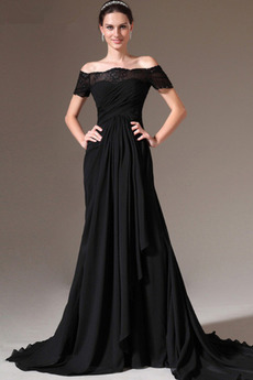 Κομψό Φερμουάρ επάνω Από τον ώμο Κοντομάνικο Βραδινά φορέματα 0bcd3640afb