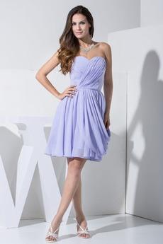 Πλαϊνό Ντραπέ αγαπημένος Φυσικό Μέχρι το Γόνατο Παράνυμφος φορέματα