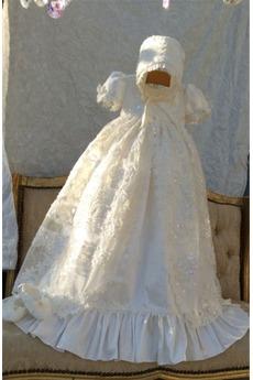 Σατέν Άνοιξη Υψηλή καλύπτονται Επίσημη Κοντομάνικο Φόρεμα Βάπτισης