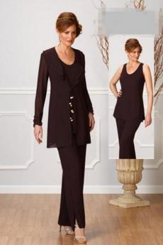Κομψό Μακρύ Μανίκι Φυσικό Υψηλή καλύπτονται Παντελόνι κοστούμι φόρεμα