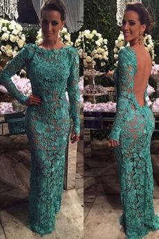 Μπάλα φορέματα Κομψό & Πολυτελές Μακρύ Μανίκι Δαντέλα επικάλυψης Κόσμημα