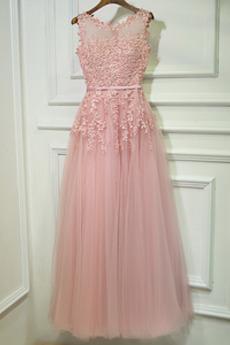 Αμάνικο Φυσικό Σέσουλα Δαντέλα επικάλυψης Παράνυμφος φορέματα