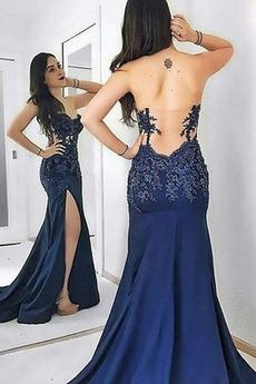 αγαπημένος Φυσικό Γοργόνα Σατέν εξώπλατο Βραδινά φορέματα