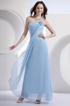 Αμάνικο πιέτα Σιφόν Θήκη Τα μέσα πλάτη Κομψό Παράνυμφος φορέματα