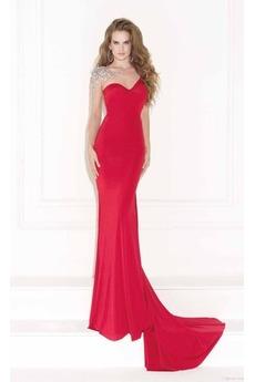 Μακρύ Μανίκι Επίσημη Κόσμημα Καθαρή πλάτη Βραδινά φορέματα