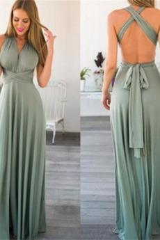 Χάνει εξώπλατο Τόξο Οι πτυχωμένες μπούστο Παράνυμφος φορέματα
