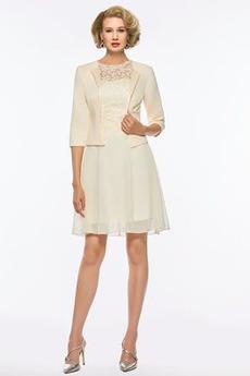 2 κομμάτι Φυσικό Κόσμημα Ρετρό Ντραπέ Φερμουάρ επάνω Μητέρα φόρεμα