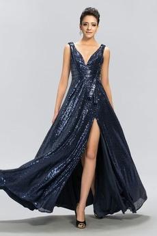 Αμάνικο Χάνει Γραμμή Α Φερμουάρ επάνω Μέχρι τον αστράγαλο Βραδινά φορέματα