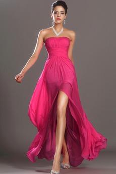Μηρό-υψηλές σχισμή Φερμουάρ επάνω Καλοκαίρι Μπάλα φορέματα