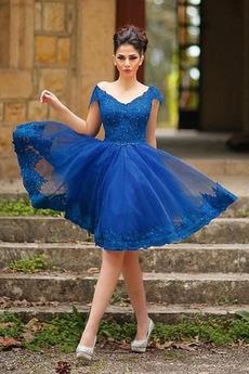Δαντέλα Φερμουάρ επάνω Κόσμημα τονισμένο μπούστο Κοκτέιλ φορέματα
