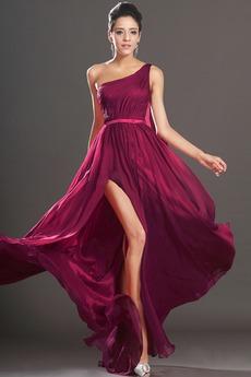 Φυσικό Ένας Ώμος Κορδέλες Ανάποδο Τρίγωνο Βραδινά φορέματα