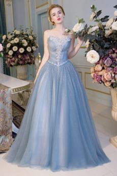 Χάντρες Μέχρι τον αστράγαλο Κόσμημα τονισμένο μπούστο Μπάλα φορέματα