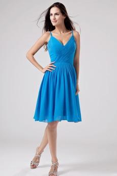 Ανάποδο Τρίγωνο Φυσικό Σιφόν Μπλε Γραμμή Α Παράνυμφος φορέματα
