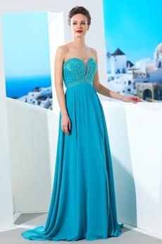 Κόσμημα τονισμένο μπούστο Φυσικό Μακρύ Αμάνικο Βραδινά φορέματα