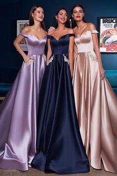 Έτος 2020 Τσέπες Μακρά Γραμμή Α Αμάνικο Άνοιξη Μπάλα φορέματα