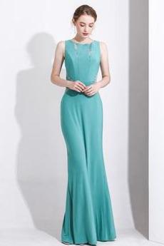 Φερμουάρ επάνω Αμάνικο Φυσικό Μέχρι τον αστράγαλο Βραδινά φορέματα