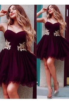 Τιράντες σπαγγέτι Λαμπερό πολλαπλών στρώμα Κοκτέιλ φορέματα