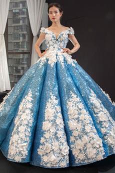 Μπάλα φορέματα Έτος 2019 Έναστρο Μήλο Δαντέλα-επάνω παγιέτες μπούστο