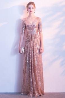 Γραμμή Α Μέχρι τον αστράγαλο Κοντομάνικο Παράνυμφος φορέματα
